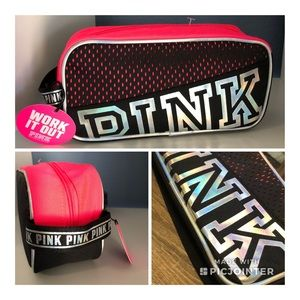 VS PINK Hot Pink & Iridescent Make-up Bag